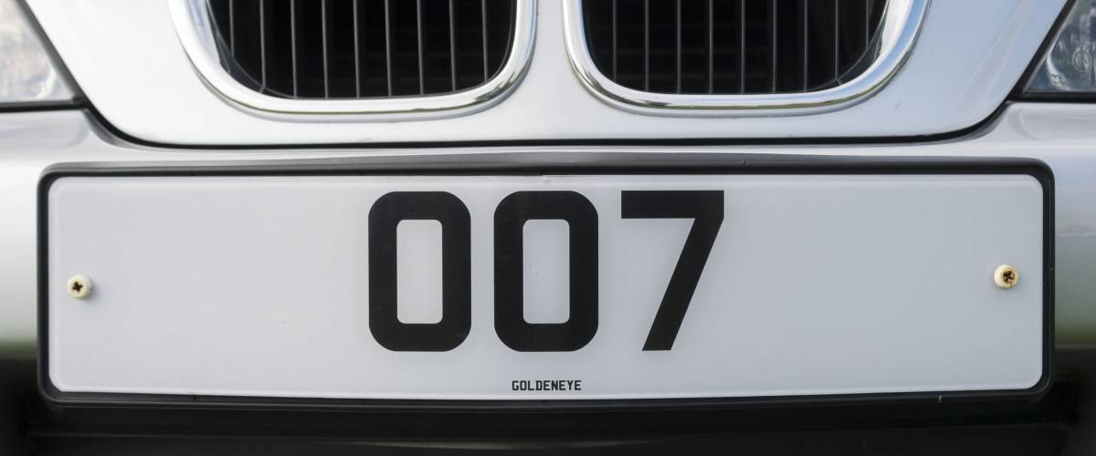 London, England - October 11, 2012: James Bond 007 Personalised Number Plate on a Sports Car