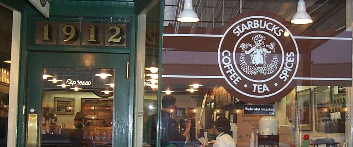 The Seattle Starbucks that stands in for the original location