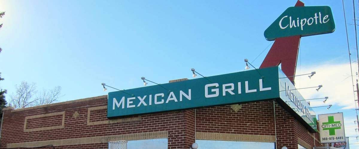 Chipotle Mexican Grill was first opened at 1644 East Evans, in a former Dolly Madison Ice Cream store near the University of Denver campus by Steve Ells in 1993.