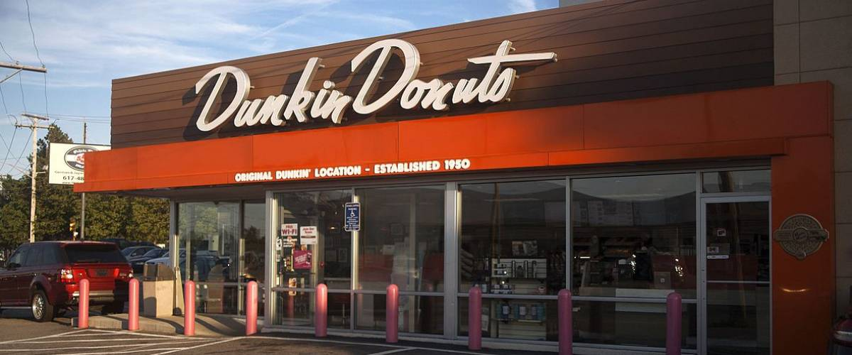 The original Dunkin Donuts location in Quincy, Massachusetts