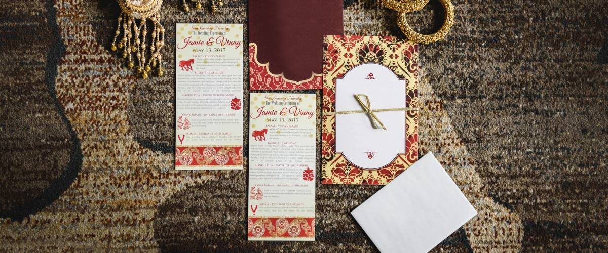 These beautiful wedding programs will end up in the trash