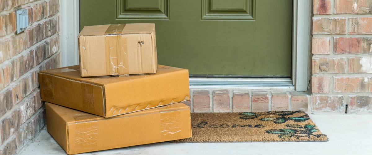 Packages delivered to doorstep