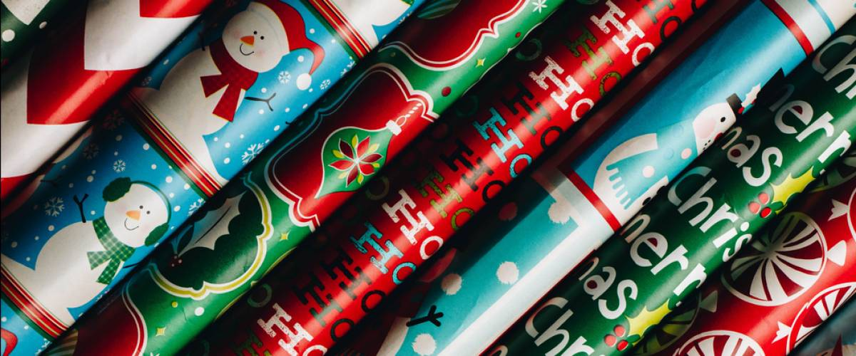 Rolls of Christmas paper