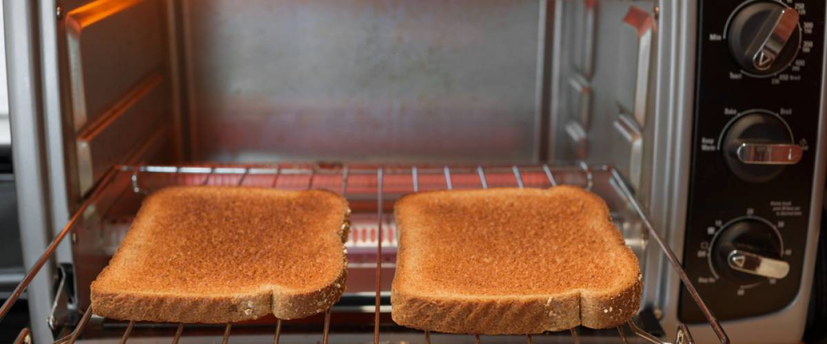 Toast in toaster oven